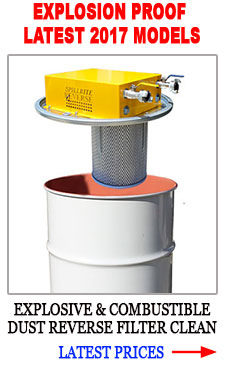 EXPLOSION PROOF REVERSE FILTER CLEANING VACUUM