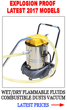 EXPLOSION PROOF ANTI STATIC VACUUM flammable fluids